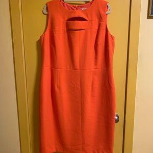 SUMMER Orange sheath dress 16W